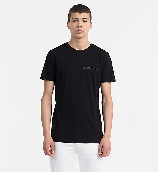 CALVIN KLEIN JEANS Organic Cotton T-shirt - CK BLACK - CALVIN KLEIN JEANS NEW IN - main image
