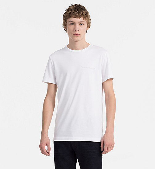 CALVIN KLEIN JEANS Organic Cotton T-shirt - BRIGHT WHITE - CALVIN KLEIN JEANS NEW BLUES - main image