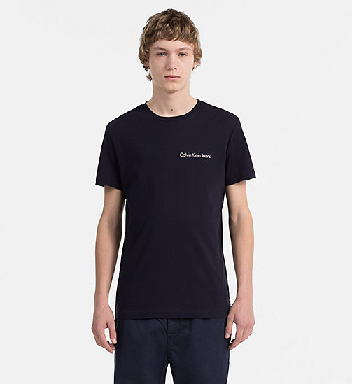 CALVIN KLEIN JEANS Organic Cotton T-shirt - NIGHT SKY - CALVIN KLEIN JEANS NEW IN - main image