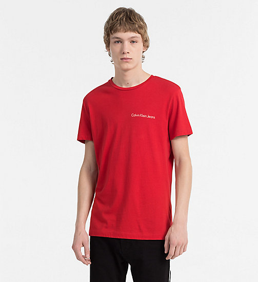 CALVIN KLEIN JEANS Organic Cotton T-shirt - TANGO RED - CALVIN KLEIN JEANS TRUE COLOURS - main image