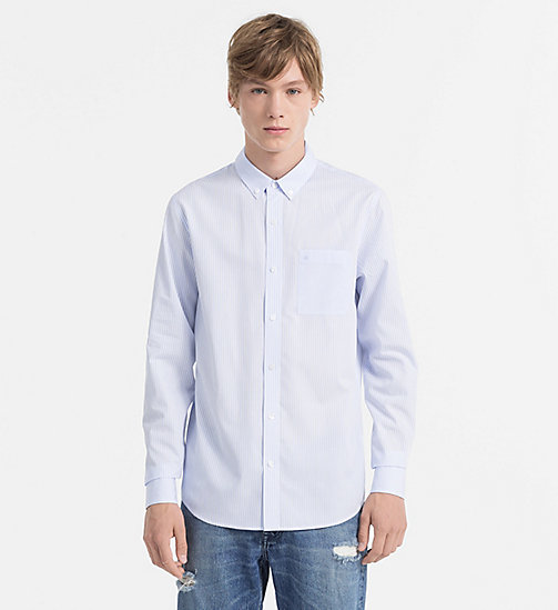 CALVIN KLEIN JEANS Oxford Cotton Stripe Shirt - CK BLACK - CALVIN KLEIN JEANS CLOTHES - main image
