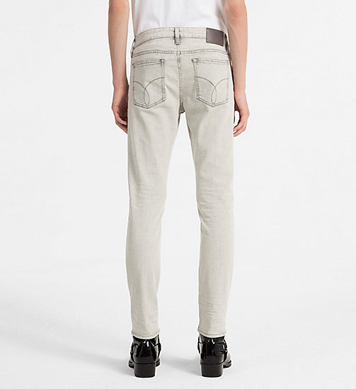CALVIN KLEIN JEANS Slim Straight Jeans - STRANGE GREY CMF -  CLOTHES - detail image 1