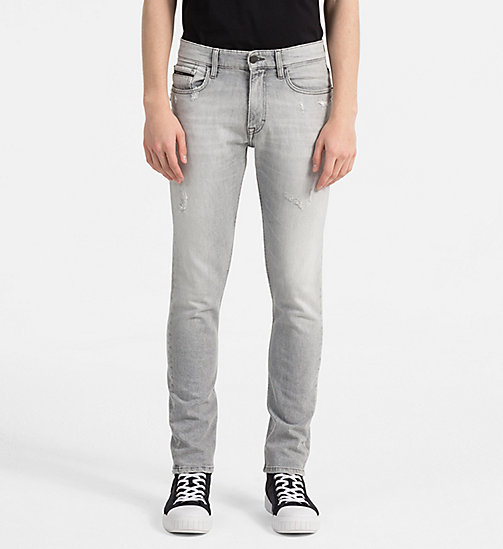 CALVIN KLEIN JEANS Skinny Jeans - ELECTRONIC GREY CMF - CALVIN KLEIN JEANS NEW IN - main image