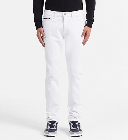 CALVIN KLEIN JEANS Straight Tapered Jeans - WHITE WASH - CALVIN KLEIN JEANS CLOTHES - main image