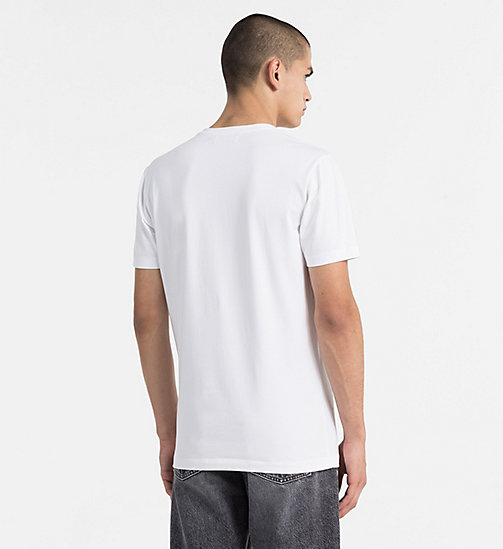 CALVIN KLEIN JEANS Stripe Logo T-shirt - BRIGHT WHITE - CALVIN KLEIN JEANS NEW IN - detail image 1