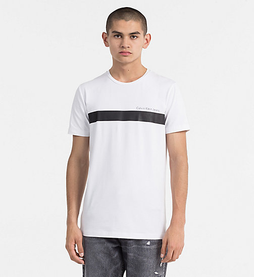 CALVIN KLEIN JEANS Stripe Logo T-shirt - BRIGHT WHITE - CALVIN KLEIN JEANS NEW IN - main image