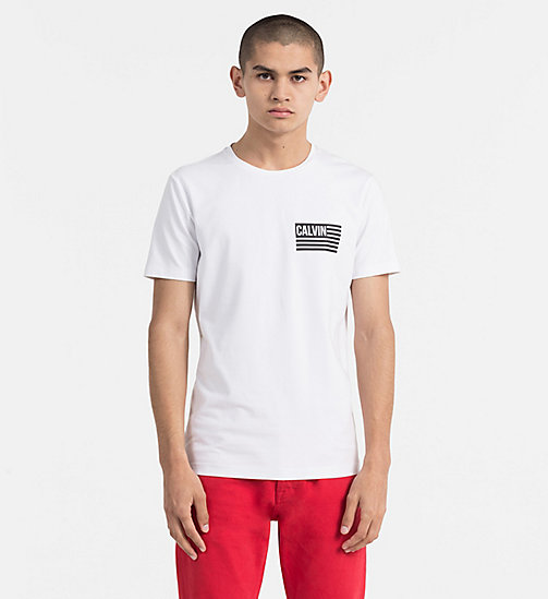 CALVIN KLEIN JEANS Flag Logo T-shirt - BRIGHT WHITE - CALVIN KLEIN JEANS NEW IN - main image