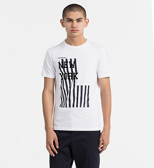 CALVIN KLEIN JEANS Slim Printed T-shirt - BRIGHT WHITE -  CLOTHES - main image