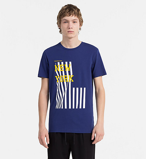 CALVIN KLEIN JEANS Slim Printed T-shirt - BLUE DEPTHS - CALVIN KLEIN JEANS NEW IN - main image