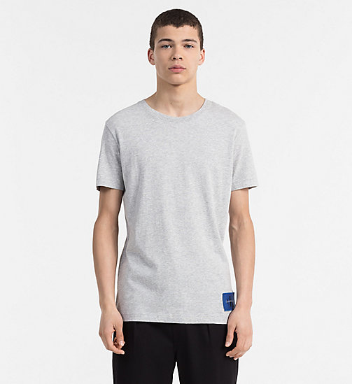 CALVIN KLEIN JEANS Slim Organic Cotton T-shirt - LIGHT GREY HEATHER - CALVIN KLEIN JEANS NEW IN - main image
