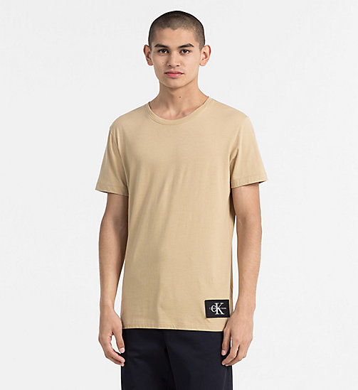 CALVIN KLEIN JEANS Organic Cotton T-shirt - SAFARI - CALVIN KLEIN JEANS NEW IN - main image