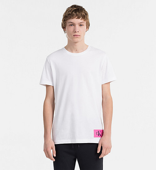CALVIN KLEIN JEANS Organic Cotton T-shirt - BRIGHT WHITE / WILD ORCHID - CALVIN KLEIN JEANS NEW IN - main image
