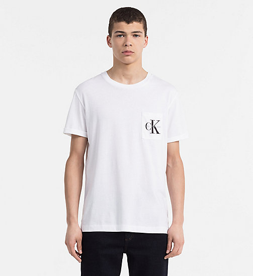 CALVIN KLEIN JEANS Logo-T-Shirt - BRIGHT WHITE -  SWIM SHOP - main image