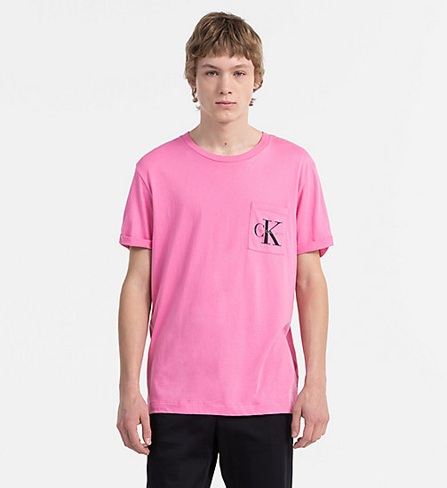 CALVIN KLEIN JEANS Logo-T-Shirt - WILD ORCHID -  NEW IN - main image