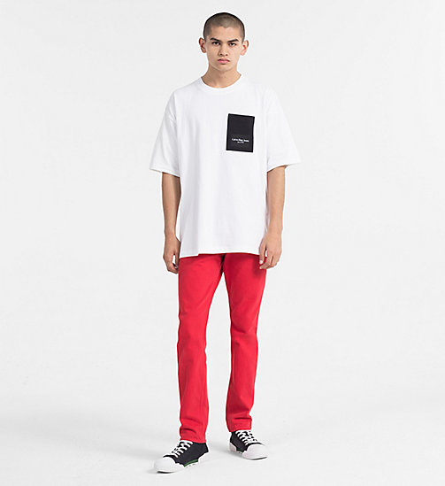 CALVIN KLEIN JEANS Contrast Pocket T-shirt - BRIGHT WHITE / CK BLACK - CALVIN KLEIN JEANS TRUE COLOURS - detail image 1