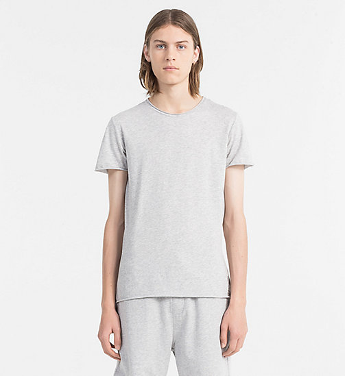 CALVIN KLEIN JEANS Combed Cotton T-shirt - LIGHT GREY HEATHER - CALVIN KLEIN JEANS NEW IN - main image