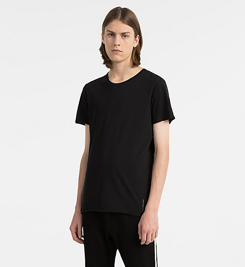 CALVIN KLEIN JEANS Combed Cotton T-shirt - CK BLACK - CALVIN KLEIN JEANS NEW IN - main image