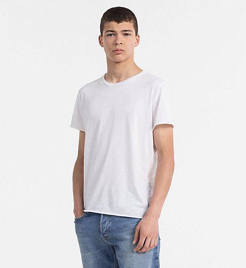 CALVIN KLEIN JEANS Combed Cotton T-shirt - BRIGHT WHITE - CALVIN KLEIN JEANS CLOTHES - main image