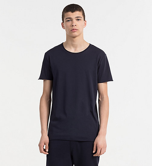 CALVIN KLEIN JEANS Combed Cotton T-shirt - NIGHT SKY - CALVIN KLEIN JEANS TRUE COLOURS - main image