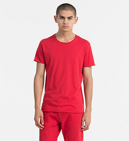 CALVIN KLEIN JEANS Combed Cotton T-shirt - TANGO RED - CALVIN KLEIN JEANS TRUE COLOURS - main image