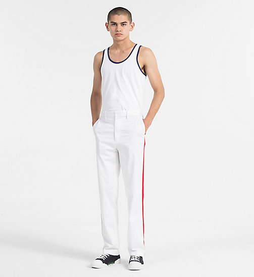 CALVIN KLEIN JEANS Regular Cotton Tank Top - BRIGHT WHITE - CALVIN KLEIN JEANS NEW IN - detail image 1