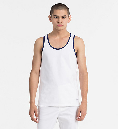 CALVIN KLEIN JEANS Regular Cotton Tank Top - BRIGHT WHITE - CALVIN KLEIN JEANS BLUES MASTER - main image