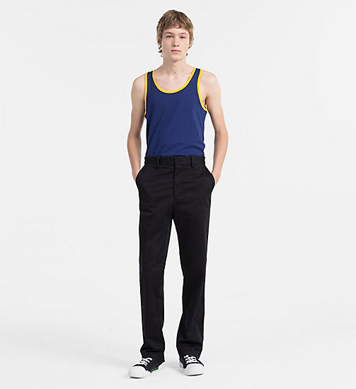 CALVIN KLEIN JEANS Regular Cotton Tank Top - BLUE DEPTHS - CALVIN KLEIN JEANS NEW IN - detail image 1