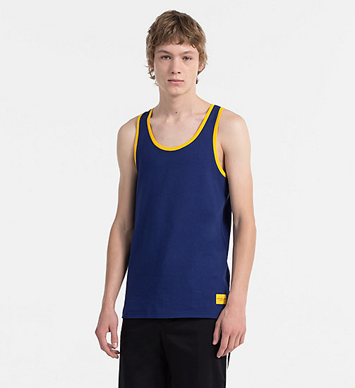 CALVIN KLEIN JEANS Regular Cotton Tank Top - BLUE DEPTHS - CALVIN KLEIN JEANS CLOTHES - main image