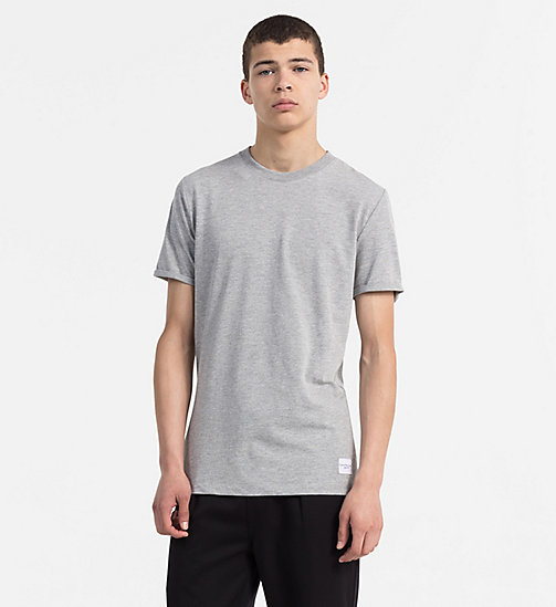 CALVIN KLEIN JEANS Slim Cotton T-shirt - LIGHT GREY HEATHER - CALVIN KLEIN JEANS NEW IN - main image
