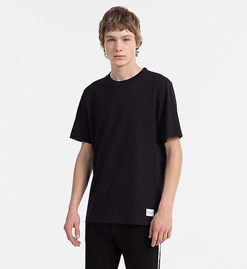 CALVIN KLEIN JEANS Cotton T-shirt - CK BLACK - CALVIN KLEIN JEANS NEW IN - main image