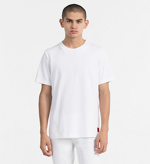 CALVIN KLEIN JEANS Cotton T-shirt - BRIGHT WHITE - CALVIN KLEIN JEANS NEW IN - main image