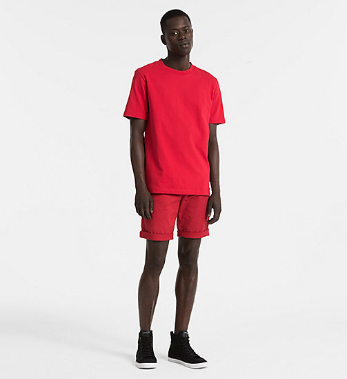 CALVIN KLEIN JEANS Cotton T-shirt - TANGO RED - CALVIN KLEIN JEANS NEW IN - detail image 1