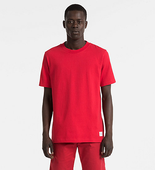 CALVIN KLEIN JEANS Cotton T-shirt - TANGO RED - CALVIN KLEIN JEANS NEW IN - main image