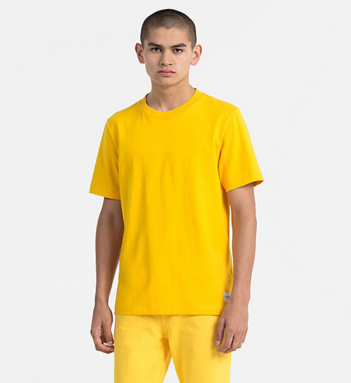 CALVIN KLEIN JEANS Baumwoll-T-Shirt - SPECTRA YELLOW -  NEW IN - main image