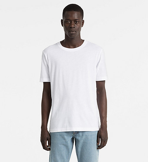 CALVIN KLEIN JEANS Combed Cotton T-shirt - BRIGHT WHITE - CALVIN KLEIN JEANS BLUES MASTER - main image