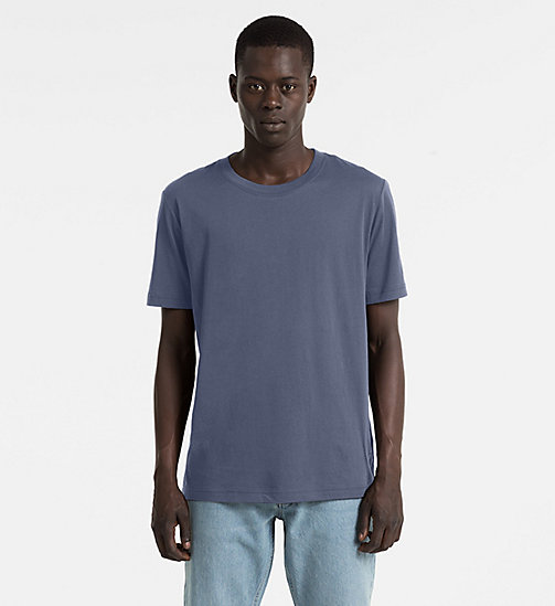 CALVIN KLEIN JEANS Combed Cotton T-shirt - NIGHT SKY - CALVIN KLEIN JEANS CLOTHES - main image