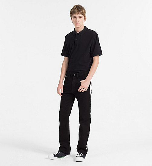 CALVIN KLEIN JEANS Cotton Piqué Polo - CK BLACK - CALVIN KLEIN JEANS NEW IN - detail image 1