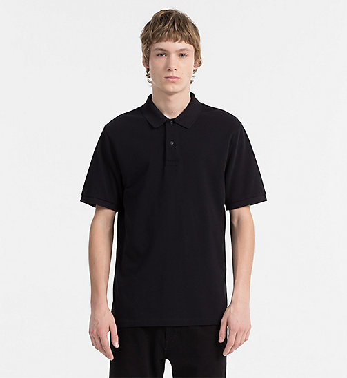 CALVIN KLEIN JEANS Cotton Piqué Polo - CK BLACK - CALVIN KLEIN JEANS NEW IN - main image