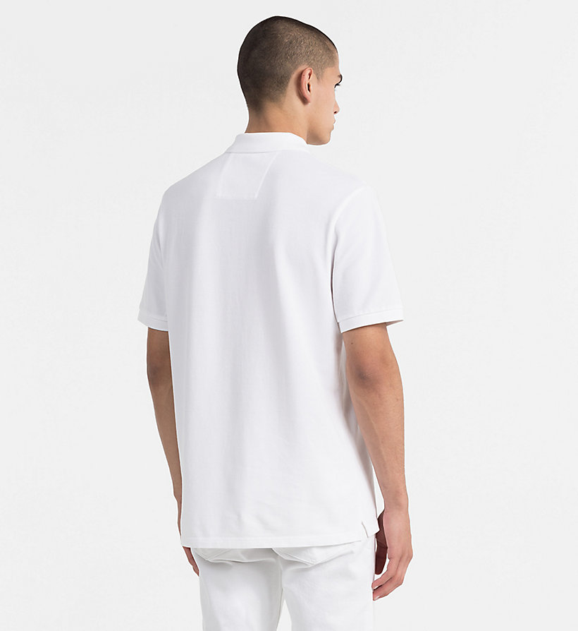 CALVIN KLEIN JEANS Cotton Piqué Polo - CK BLACK / BRIGHT WHITE - CALVIN KLEIN JEANS MEN - detail image 2