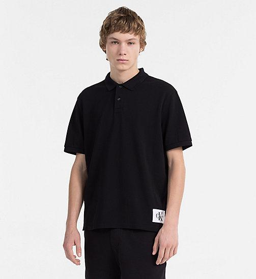 CALVIN KLEIN JEANS Cotton Piqué Polo - CK BLACK / BRIGHT WHITE - CALVIN KLEIN JEANS NEW IN - main image