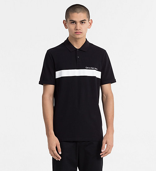 CALVIN KLEIN JEANS Piqué Stripe Polo - CK BLACK -  CLOTHES - main image