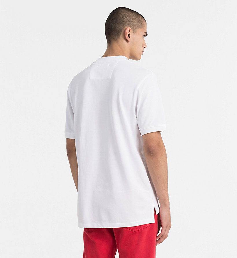 CALVIN KLEIN JEANS Block Stripe Polo - NIGHT SKY / BRIGHT WHITE - CALVIN KLEIN JEANS MEN - detail image 2