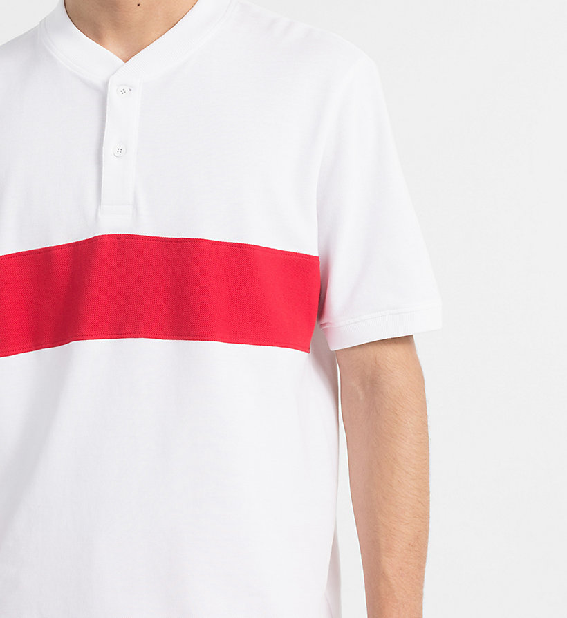 CALVIN KLEIN JEANS Block Stripe Polo - NIGHT SKY / BRIGHT WHITE - CALVIN KLEIN JEANS MEN - detail image 3