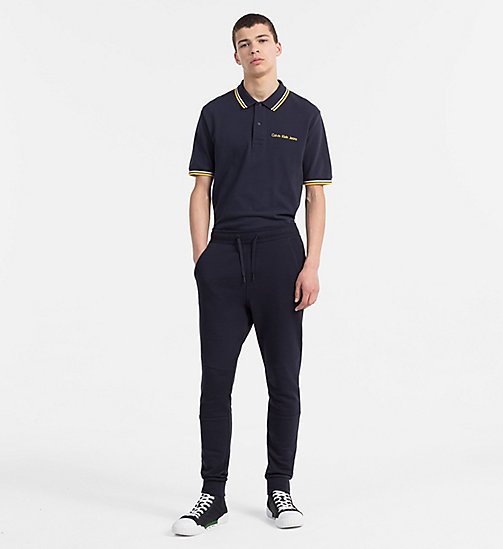 CALVIN KLEIN JEANS Cotton Piqué Polo - NIGHT SKY - CALVIN KLEIN JEANS NEW IN - detail image 1