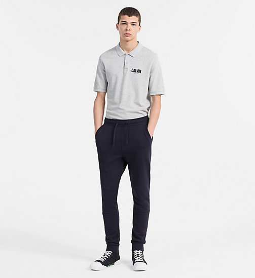 CALVIN KLEIN JEANS Slim Cotton Piqué Polo - LIGHT GREY HEATHER - CALVIN KLEIN JEANS CLOTHES - detail image 1