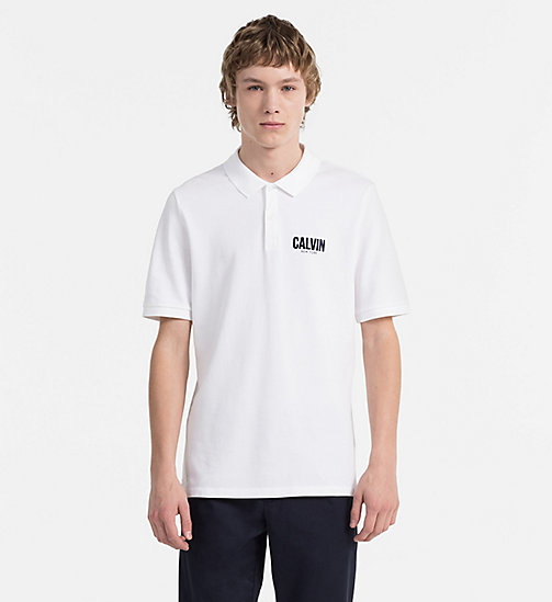 CALVIN KLEIN JEANS Slim Cotton Piqué Polo - BRIGHT WHITE -  CLOTHES - main image