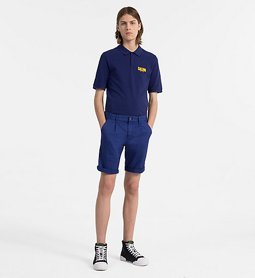 CALVIN KLEIN JEANS Slim Cotton Piqué Polo - BLUE DEPTHS - CALVIN KLEIN JEANS NEW IN - detail image 1