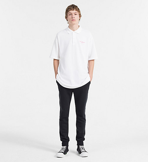 CALVIN KLEIN JEANS Relaxed Cotton Piqué Polo - BRIGHT WHITE - CALVIN KLEIN JEANS CLOTHES - detail image 1
