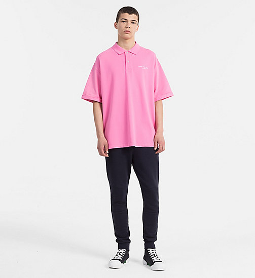 CALVIN KLEIN JEANS Relaxed Cotton Piqué Polo - WILD ORCHID -  CLOTHES - detail image 1