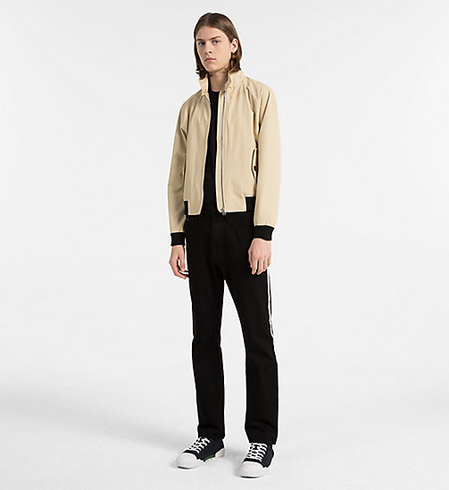 CALVIN KLEIN JEANS Coated Cotton Jacket - SAFARI - CALVIN KLEIN JEANS NEW IN - detail image 1